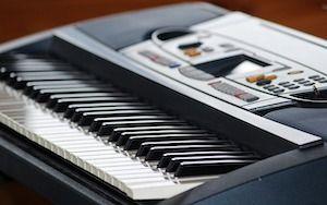 Keyboard seitlich fotografiert